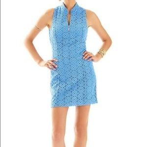 Lilly Pulitzer Alexa Bay Blue Breakers Shift Dress